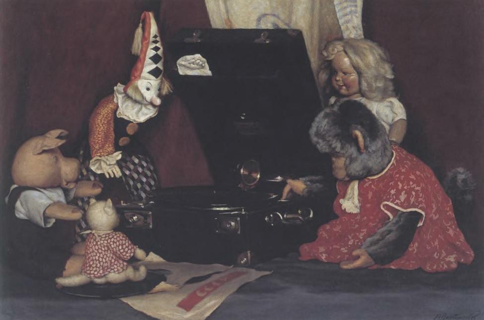 АЛЕКСАНДР ЛАКТИОНОВ. Натюрморт. Игрушки. 1949 Холст, масло. 80 х 100 см. Художественный музей, Горловка