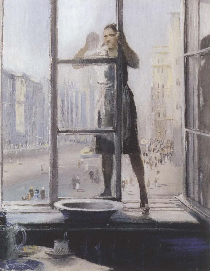 ЮРИЙ ПИМЕНОВ. Весеннее окно. 1948. Фанера, масло. 42 X 34 см. Астраханская государственная картинная галерея