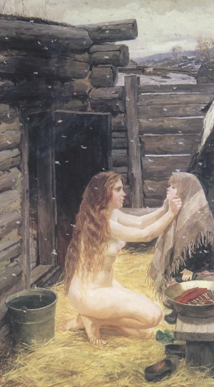 АРКАДИЙ ПЛАСТОВ. Весна. 1954. Холст, масло. 210 х 123 см. Государственная Третьяковская галерея