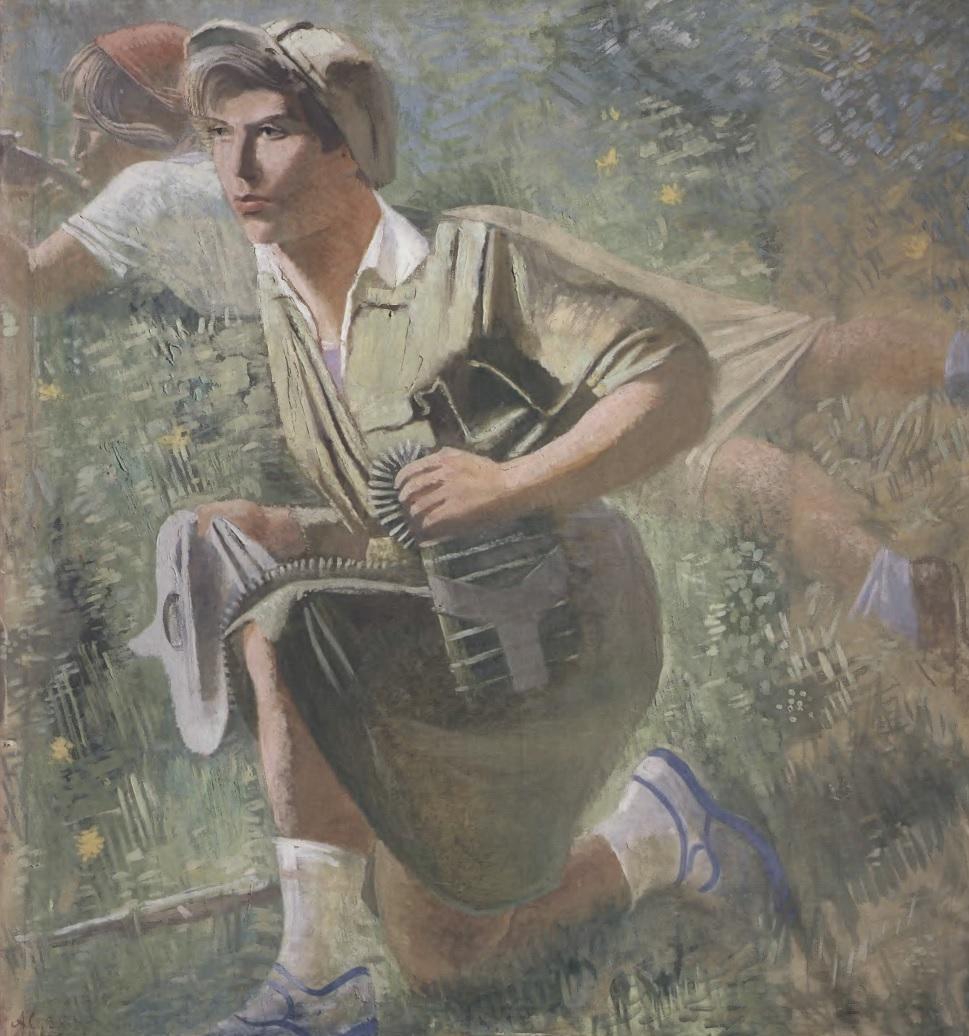 АЛЕКСАНДР САМОХВАЛОВ. Осоавиахимовка. 1932. Холст, масло. 120 х 116 см. Государственный Русский музей
