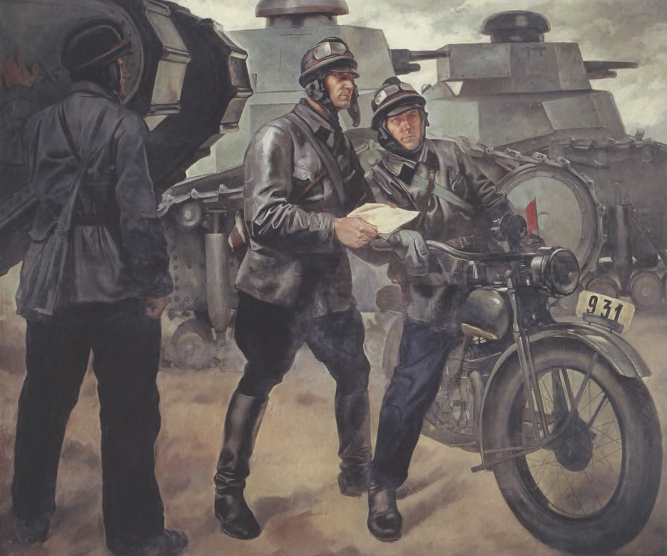 ПЕТР ШУХМИН. Танкисты. 1928. Холст, масло. 203 х 231 см. Центральный музей Вооруженных Сил, Москва