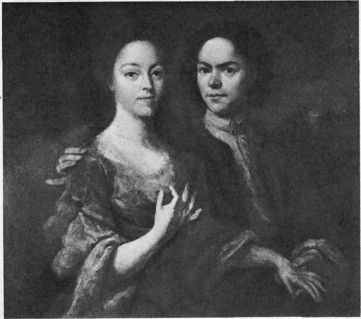 129. А. Матвеев. Автопортрет с женой. 1729 (?)