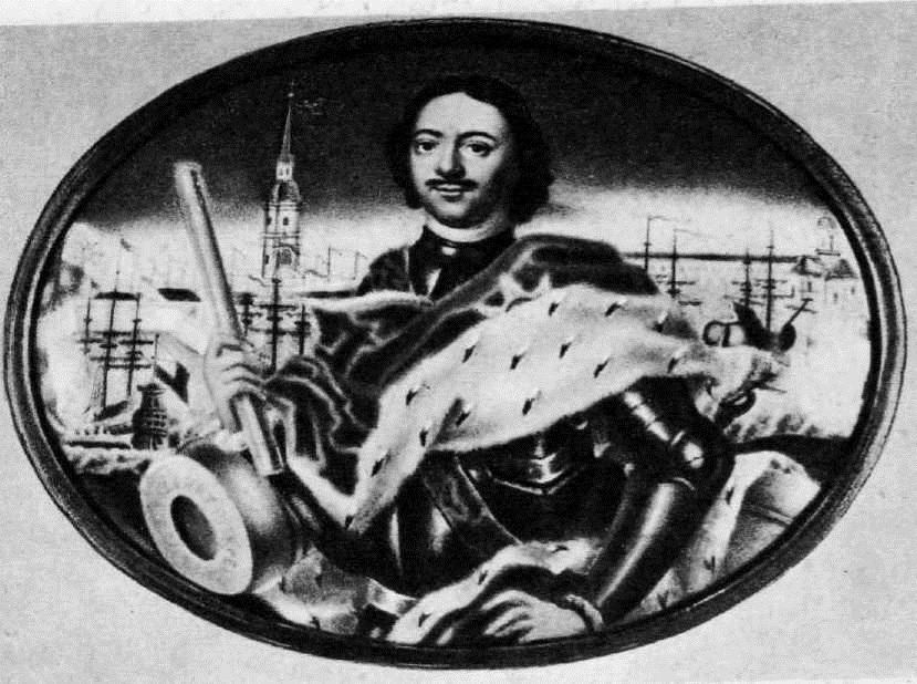 120. Г. С. Мусикийский. Портрет Петра I. 1723
