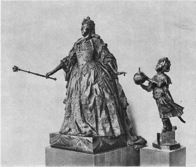 138. Б.-К. Растрелли. Анна Иоанновна с арапчонком. 1741