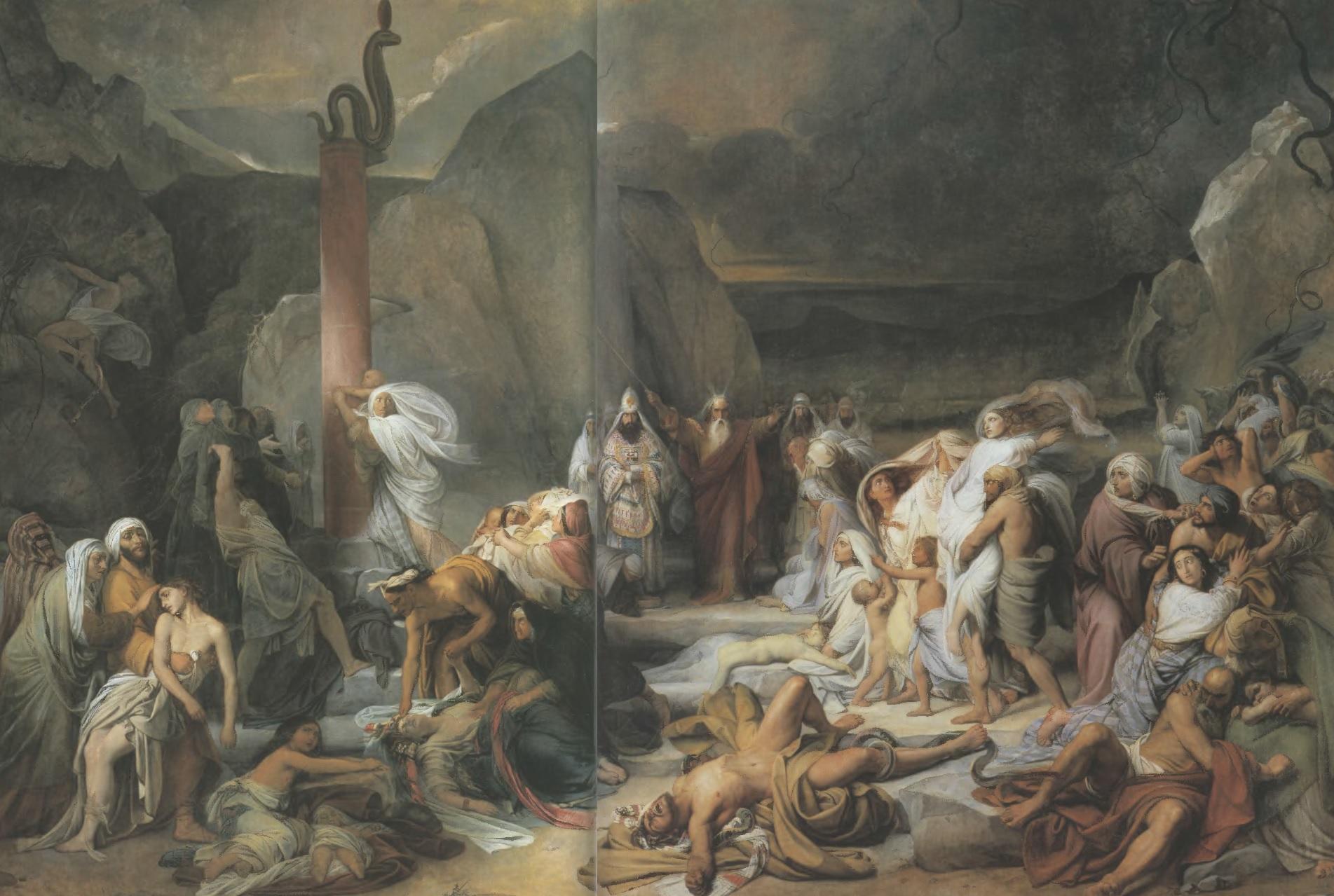 ФЕДОР БРУНИ. Медный змий. 1841. Холст, масло. 565 х 852 см. Государственный Русский музей