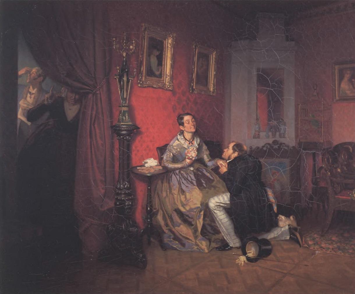 ПАВЕЛ ФЕДОТОВ. Разборчивая невеста. 1847. Холст, масло. 37 х 45 см. Государственная Третьяковская галерея