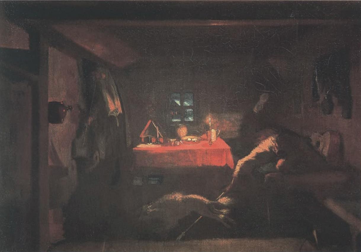 ПАВЕЛ ФЕДОТОВ. «Анкор, еще анкор!». Холст, масло. 34,3 х 46 см. Государственная Третьяковская галерея