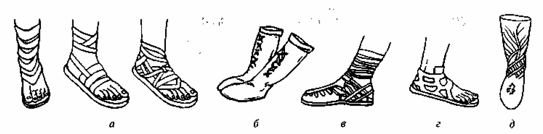 Рис. II.44. Обувь древних греков