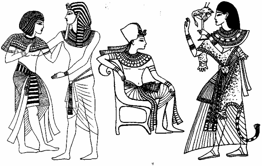 Рис. II.5. Мужская одежда периода Нового царства. Рис. II.6. Одежда жреца.