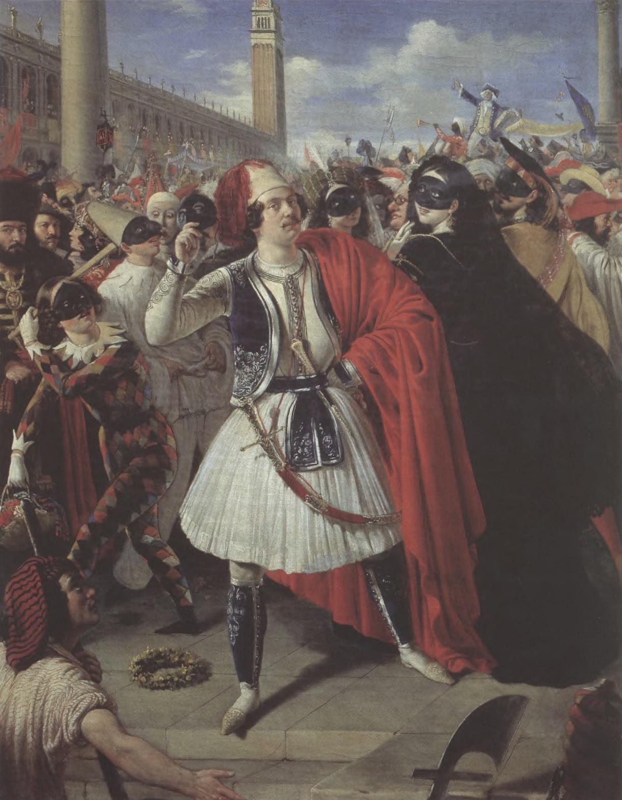 МИХАИЛ СКОТТИ. На карнавале в Венеции. 1839. Холст, масло. 71,5 х 55,3 см. Государственная Третьяковская галерея