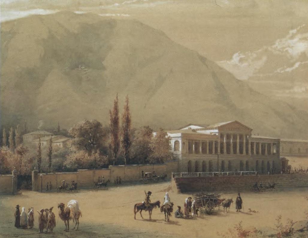 ВАСИЛИЙ ТИММ. Старый Тбилиси. Холст, масло. 20,6 х 27 см. Национальный музей Грузии, Тбилиси
