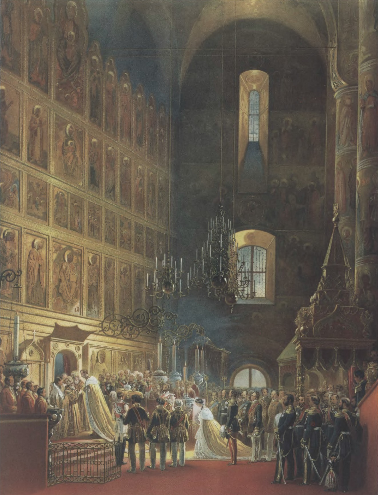 ВАСИЛИЙ ТИММ. Священнейшее миропомазание его императорского величества Александра II в Успенском соборе в Москве 26 августа 1856 года
