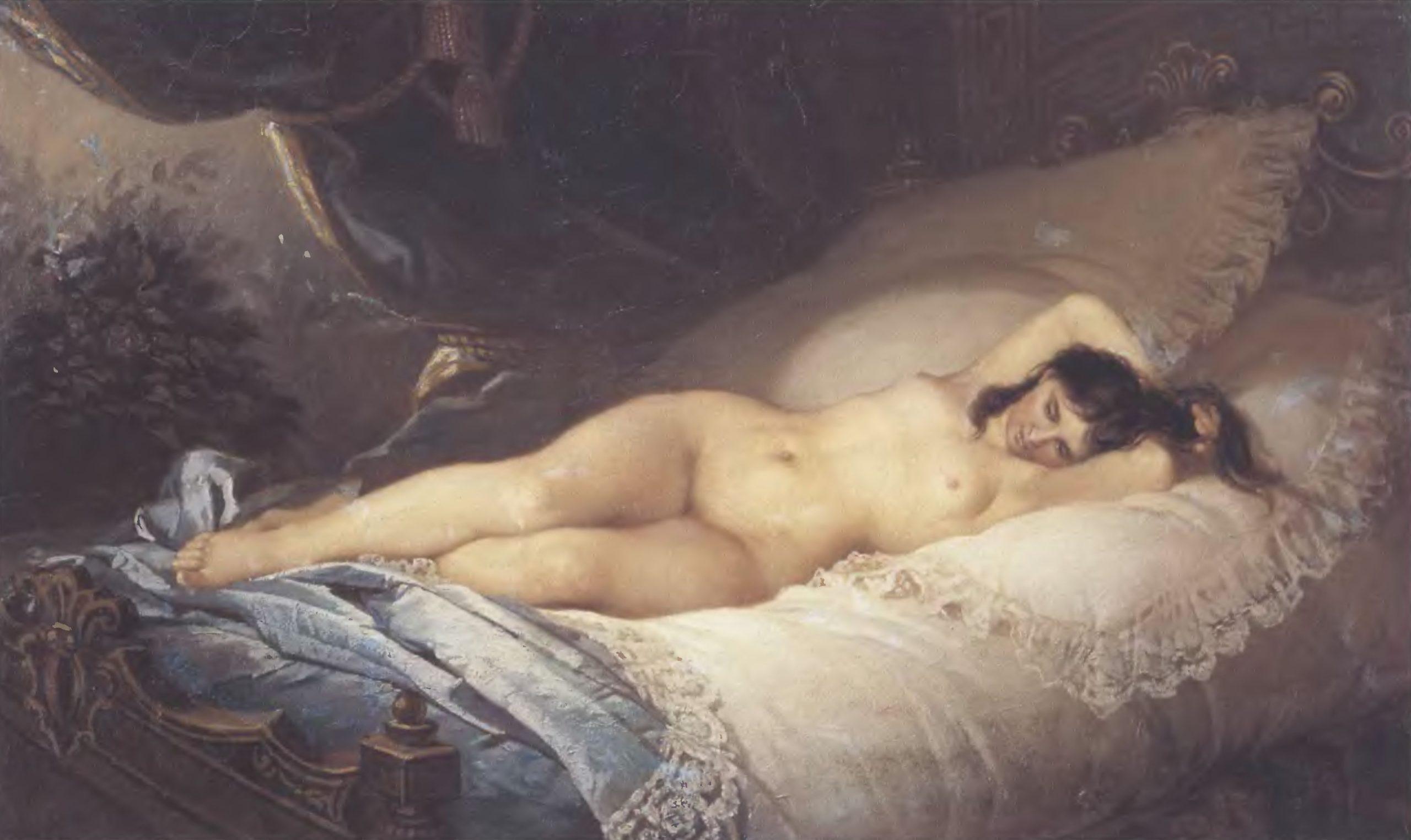 ФИРС ЖУРАВЛЕВ. Нагая женщина. Холст, масло. 71,5 х 117 см. Государственная Третьяковская галерея