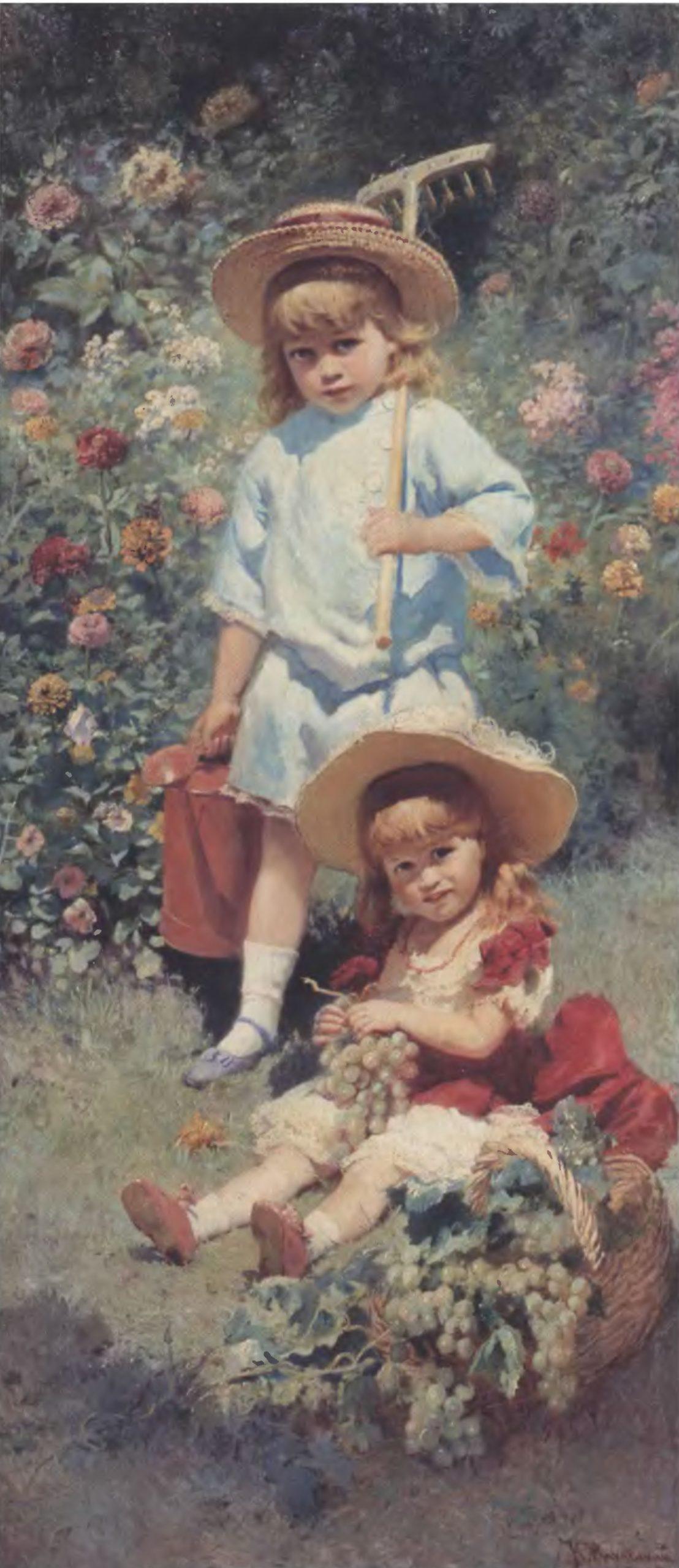 КОНСТАНТИН МАКОВСКИЙ. Портрет детей художника. 1882. Холст, масло. 192 х 82 см. Тверская областная картинная галерея