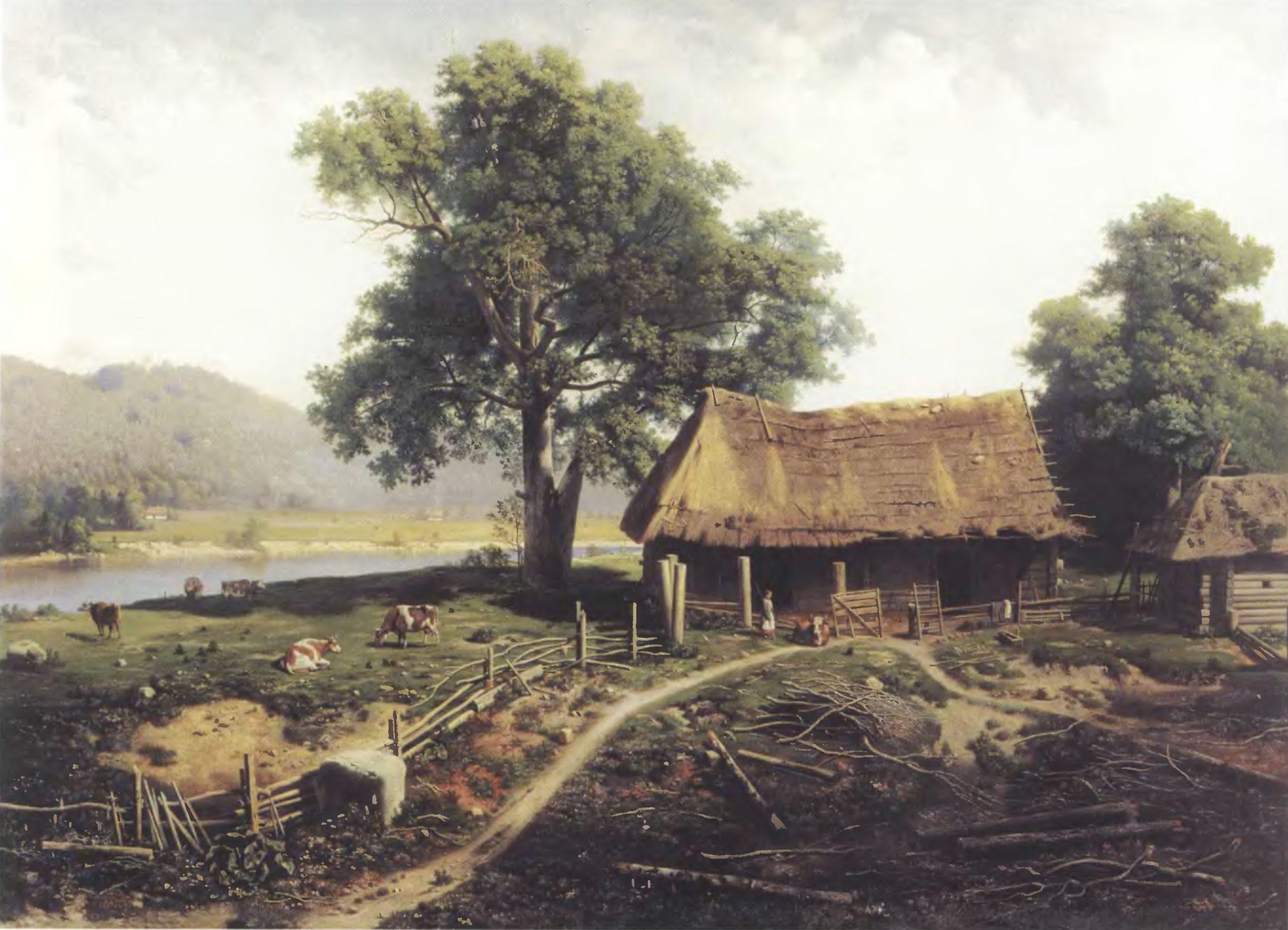 МИХАИЛ КЛОДТ. Вид на острове Валааме. 1875. Холст, масло. Томский областной художественный музей