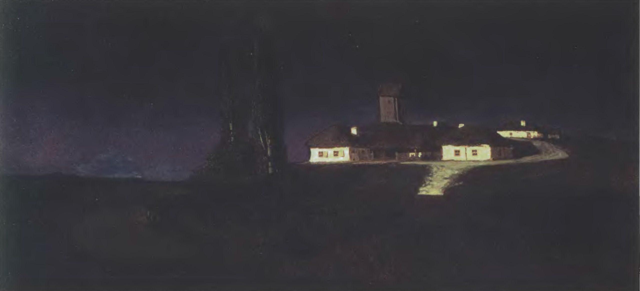 АРХИП КУИНДЖИ. Украинская ночь. 1876. Холст, масло. 79 х 162 см. Государственная Третьяковская галерея