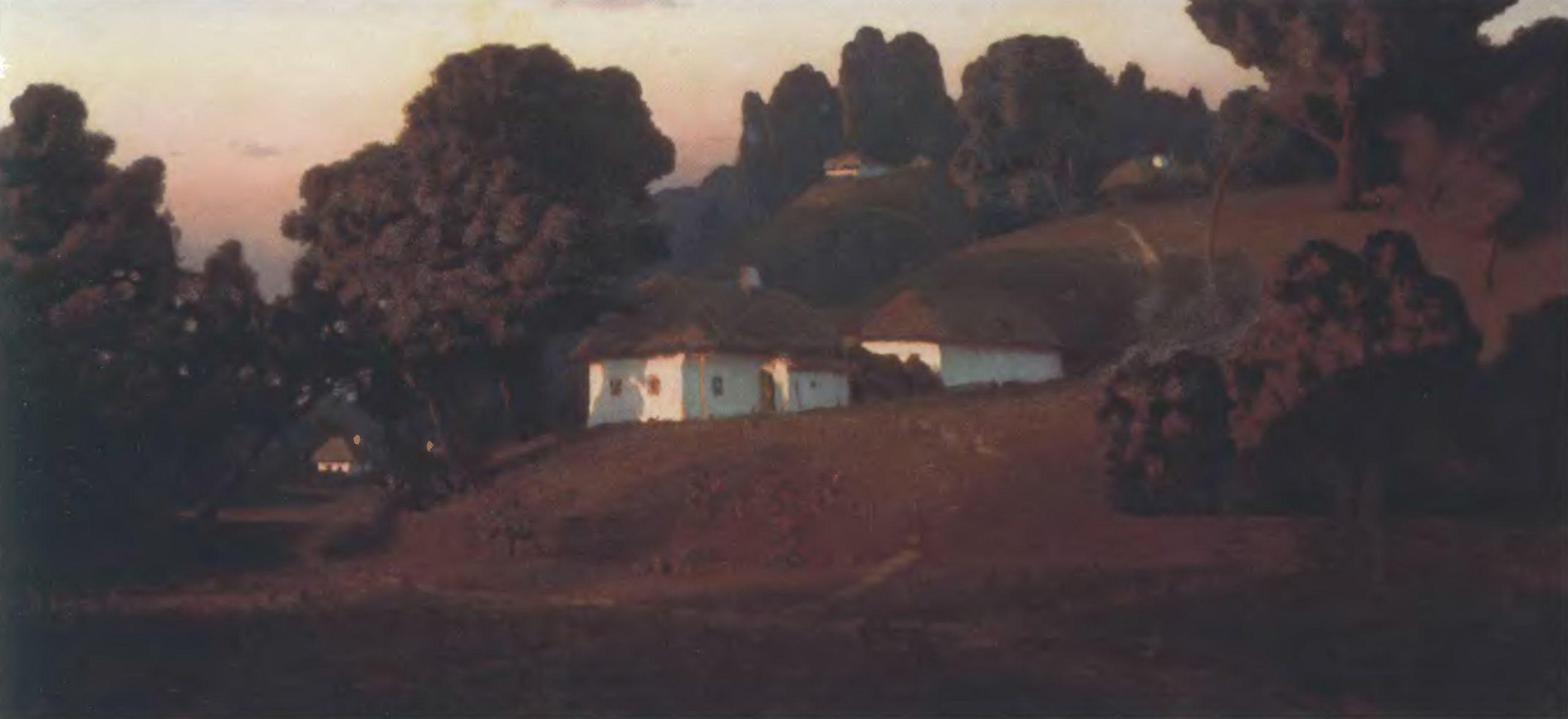 АРХИП КУИНДЖИ. Вечер на Украине. 1878. Холст, масло. 81 х 163 см. Государственный Русский музей