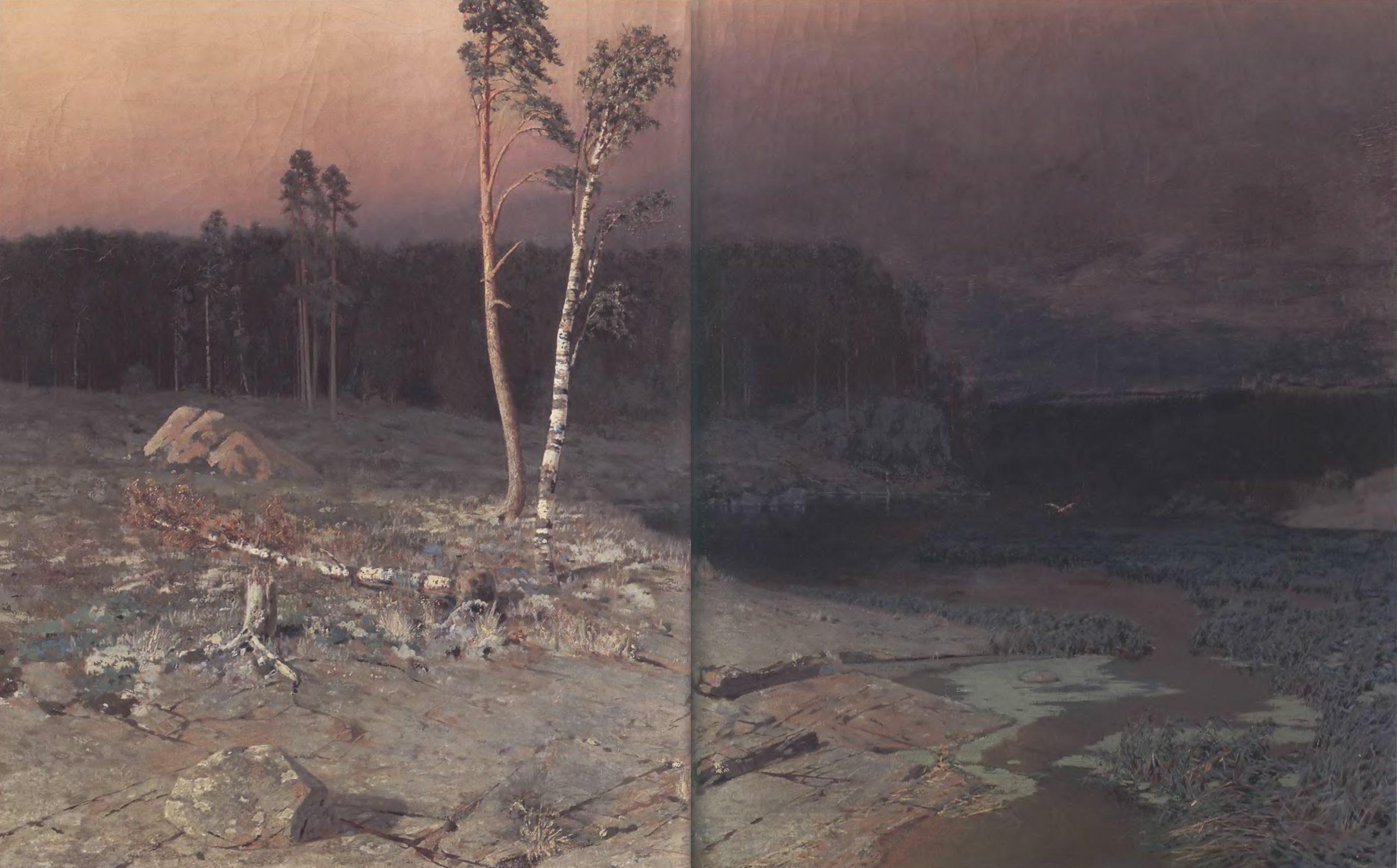 АРХИП КУИНДЖИ. На острове Валааме. 1873. Холст, масло. 76 х 130 см. Государственная Третьяковская галерея
