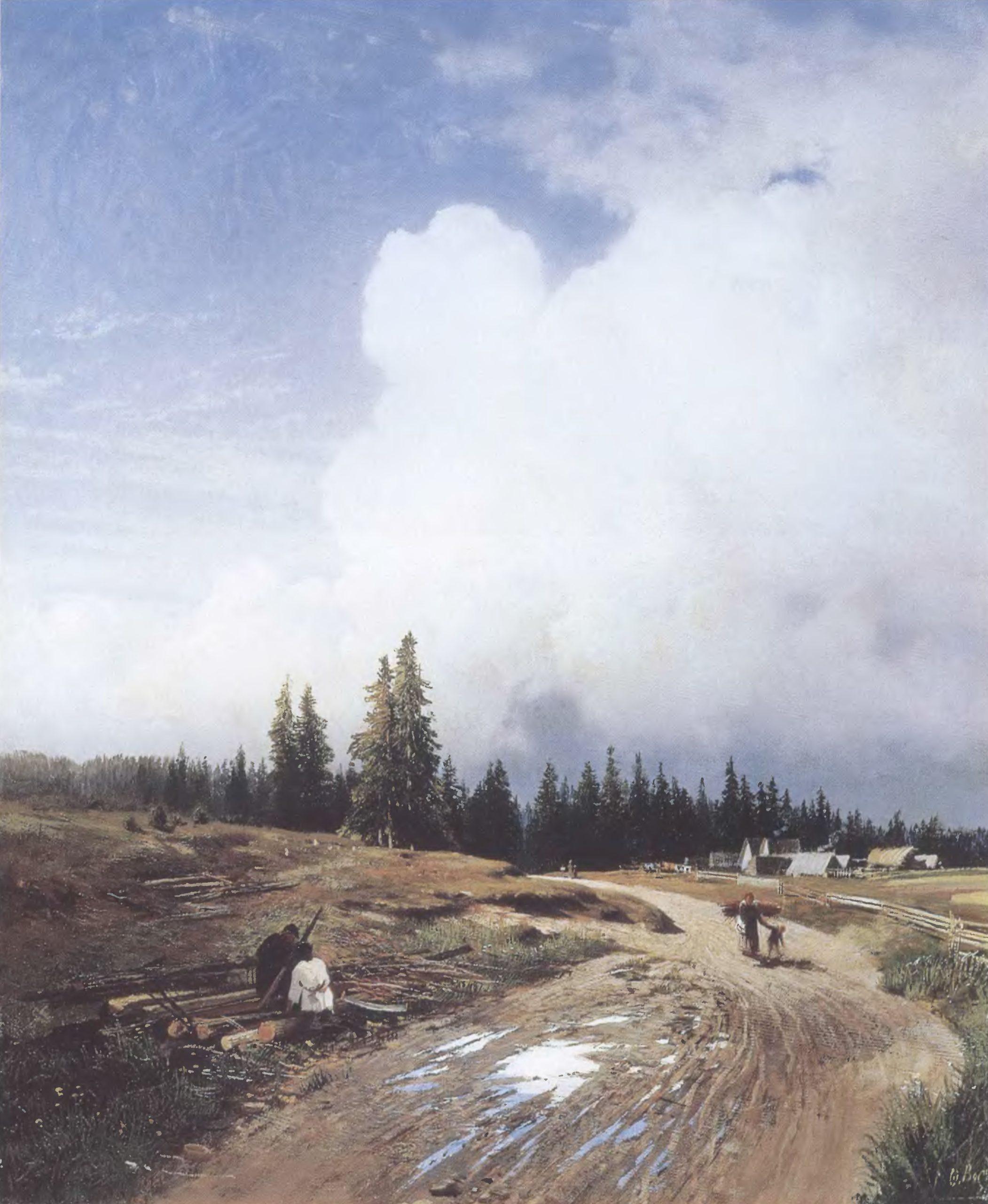 ФЕДОР ВАСИЛЬЕВ. После грозы. 1868. Холст, масло. 53,5 х 45 см. Государственная Третьяковская галерея