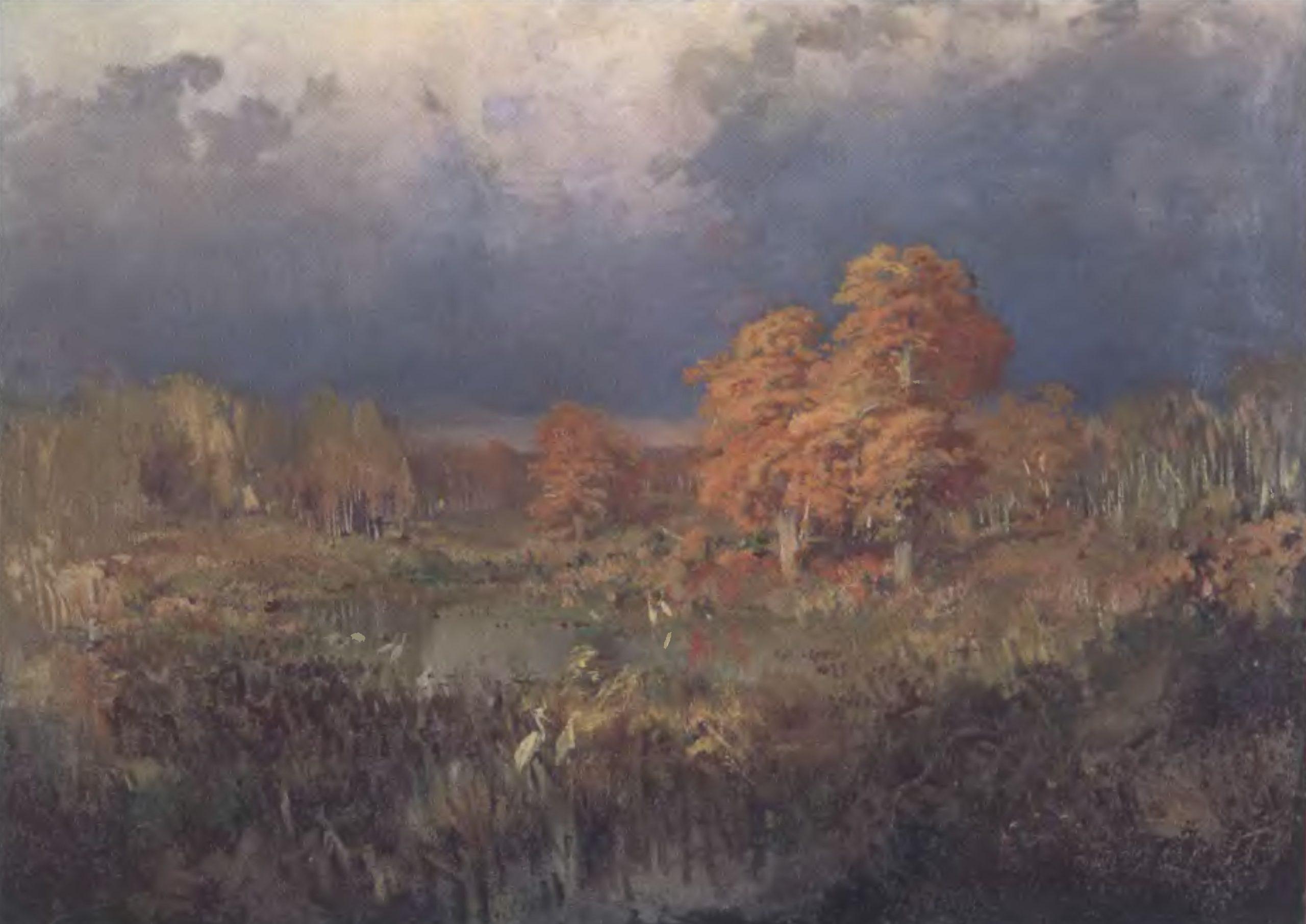ФЕДОР ВАСИЛЬЕВ. Болото в лесу. Осень. 1872. Холст, масло. 81 х 111,5 см. Государственный Русский музей